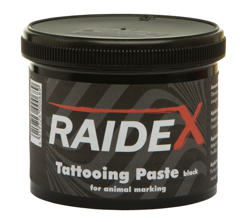 Татуировочная краска паста для мечения скота Raidex